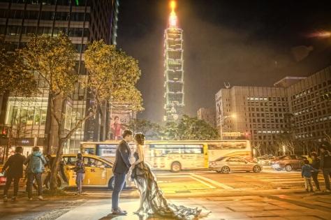 台灣拍婚紗@台北101夜景-婚攝Hawk