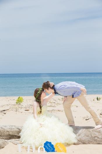 沙灘自助婚紗推薦-台北婚攝Hawk
